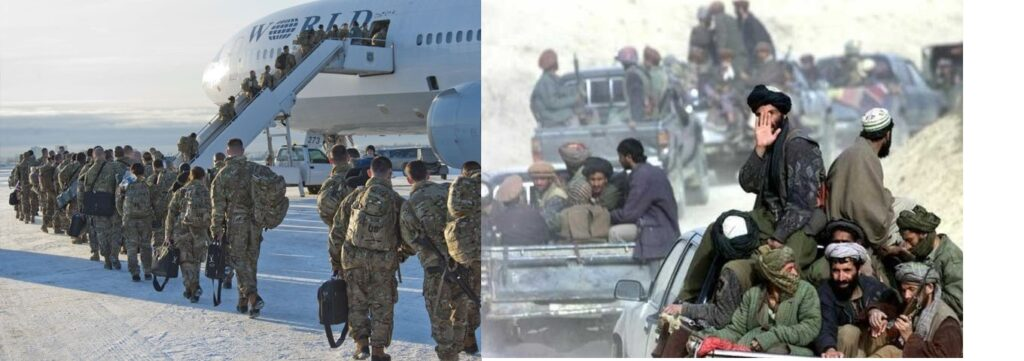 american army & Afghan Taliban